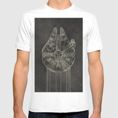 Millennium Falcon Mens Fitted Tee X-LARGE White
