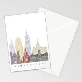 Minneapolis skyline poster Stationery Cards