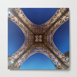 Eiffel Tower From Below Metal Print