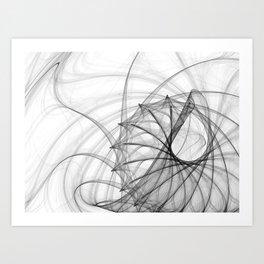 Ink Spirals and Spines Art Print