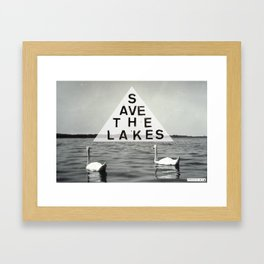 Save the Lakes Framed Art Print