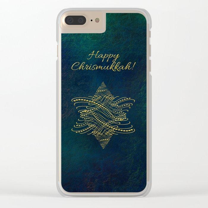 Happy Chrismukkah! Clear iPhone Case