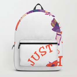 Just A Girl Who Loves School happy Backpack