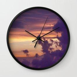 Lilac Sunset Wall Clock