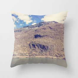 Sognefjord IV Throw Pillow