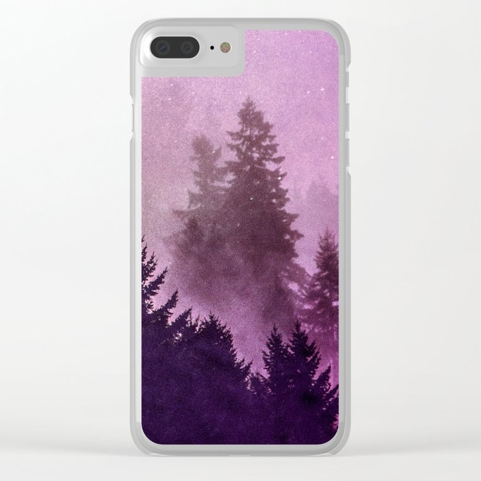 Misty Mountain Pass Clear iPhone Case