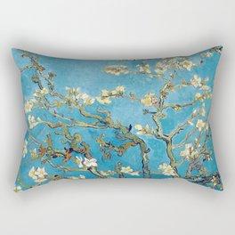 Almond Blossom Vincent Van Gogh Blue Rectangular Pillow