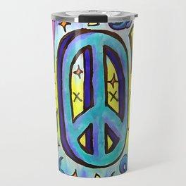 Groovy Peace Travel Mug
