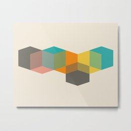 Color Study Cubes Metal Print