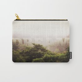 Dream Cloud Forest Hazy Typography Landscape Volcano Carry-All Pouch