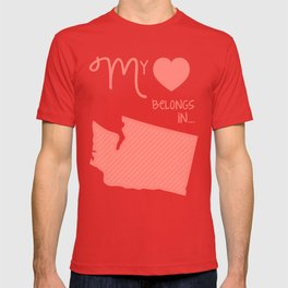 My Heart Belongs in Washington T-shirt