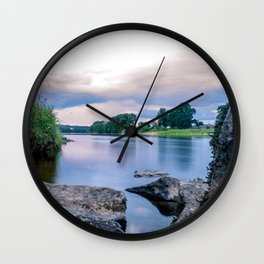 Long Exposure Photo of The River Tay in Perth Scotland Wall Clock