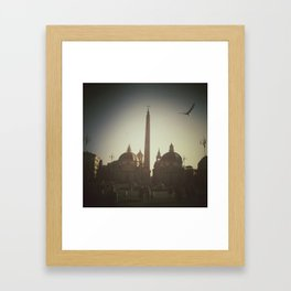 Unexpected flight Framed Art Print
