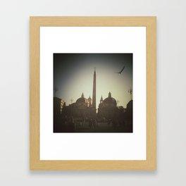 Unexpected flight Framed Art Print