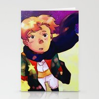the little prince Stationery Cards featuring Little Prince by Mei Linwau