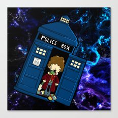 Tardis in space Doctor Who 4 Canvas Print