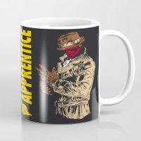 watchmen Mugs featuring Darth Rorschach  (Watchmen/Star Wars mashup) by Pixhunter