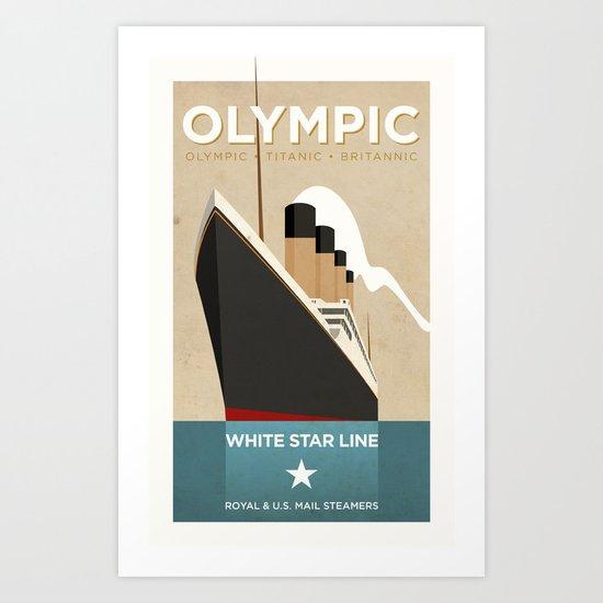 Olympic-class Poster Art Print