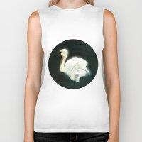swan Biker Tanks featuring Swan by Jet McLeod