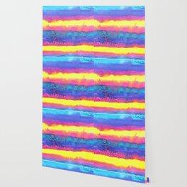 Rainbow Eruption Watercolor design Wallpaper