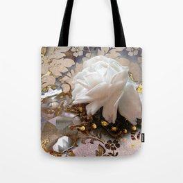 Winter Rose Tote Bag