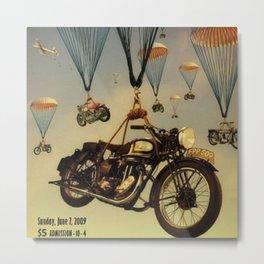 Vintage Motorcycle Show Parachute Advertising Poster Metal Print