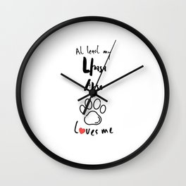 At least my lhasa apso loves me dog owner Wall Clock