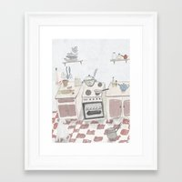 kitchen Framed Art Prints featuring Kitchen by Inga Provorova