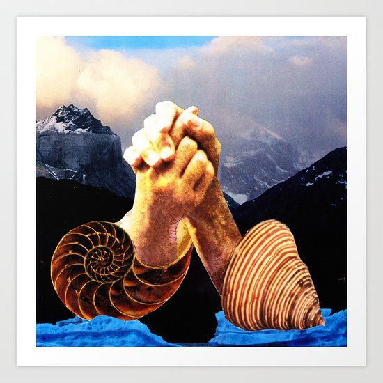 Love Symbol Split Art Print