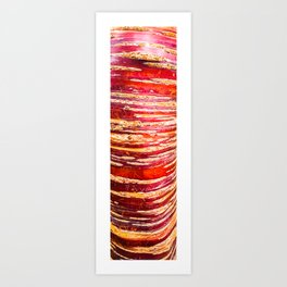 Red, yellow, brown bark of a tree - autumn colours of nature Art Print