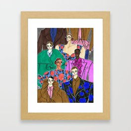 Delpozo Girls in Fall 2019 – Original Fashion art, Fashion Illustration, Fashion wall art Framed Art Print