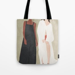 Two Flowing Models Tote Bag