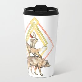 AZTEC Animals with Diamonds Travel Mug