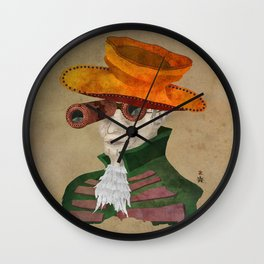 'Postapocalyptic' style Madhatter (Alice in Wonderland) Wall Clock