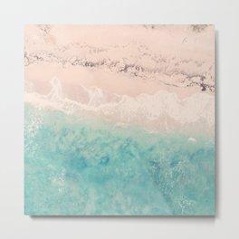 Aerial sea photography, exotic beach, fine art, wanderlust, coral reef, tropical landscape, summer Metal Print