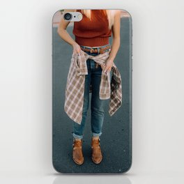 flannel and boots iPhone Skin
