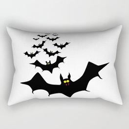 Isolated Bats Rectangular Pillow