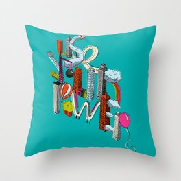 Use Your Power Throw Pillow
