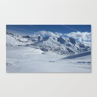 snowboarding Canvas Prints featuring Snowboarding delight by LeonelJules