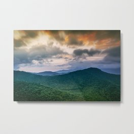 A Scenic Mountain View in Late Spring Metal Print