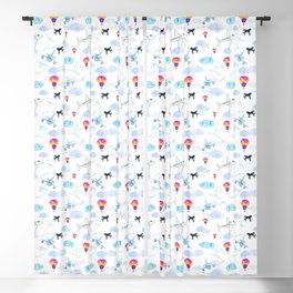 Airplanes and Balloons Blackout Curtain