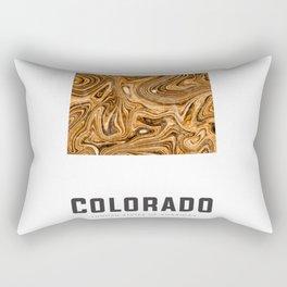 Colorado - State Map Art - Abstract Map - Brown Rectangular Pillow