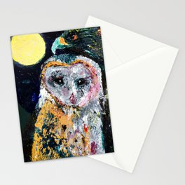 Moonlight and All That May Begin Stationery Cards