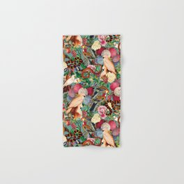 Floral and Animals pattern Hand & Bath Towel