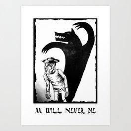 M. will never die Art Print