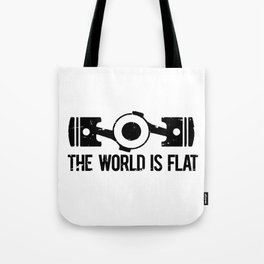 The World is Flat - Flat Engine Tote Bag