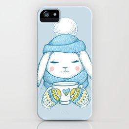 Winter Rabbit iPhone Case