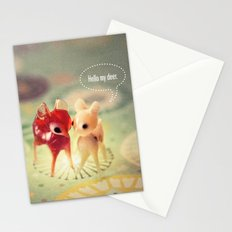hello my deer Stationery Cards