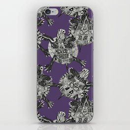 turtle party violet iPhone Skin