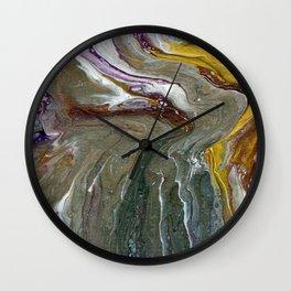 Fluid Acrylic XX - Original, acrylic, abstract painting Wall Clock